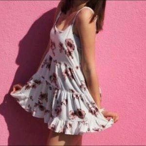 Brandy Melville pink floral sun dress